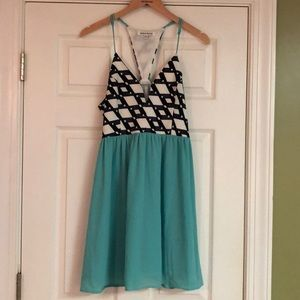 Teal and Black Boutique Dress
